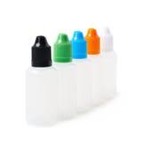 Groupe de plastique bouteilles de 30 ml Images libres de droits