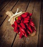 Groupe de poivre d'un rouge ardent Photos stock