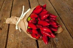 Groupe de poivre d'un rouge ardent Photo stock