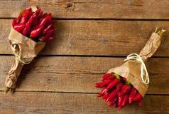 Groupe de poivre d'un rouge ardent Image libre de droits