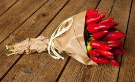 Groupe de poivre d'un rouge ardent Photographie stock libre de droits