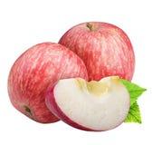 Groupe de pommes rouges d'isolement sur le fond blanc Photos stock