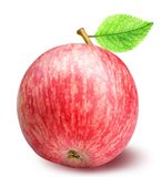 Groupe de pommes rouges d'isolement sur le fond blanc Photo stock