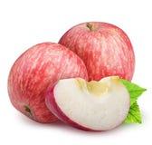 Groupe de pommes rouges d'isolement sur le fond blanc Photographie stock
