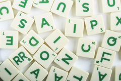Groupe de puzzle de lettres de cubes photographie stock