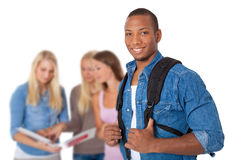 Groupe de quatre étudiants Image stock
