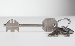 Groupe de quatre diverses clés en métal Photographie stock