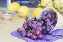 Groupe de raisins tout préparés Photographie stock