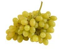 Groupe de raisins verts sur le blanc. Image stock