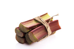 Groupe de rhubarbe fraîche Images stock