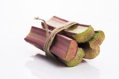 Groupe de rhubarbe fraîche Photographie stock