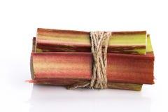 Groupe de rhubarbe fraîche Photo stock