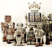 Groupe de robot Images stock