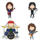 Groupe de rock Photos libres de droits