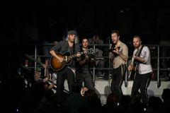 Groupe de rock britannique Coldplay Photos libres de droits