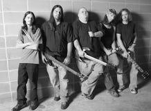 Groupe de rock en noir et blanc Photo libre de droits