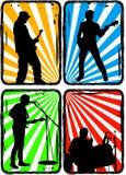 Groupe de rock, partie Image libre de droits