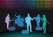 Groupe de rock sur l'étape Photographie stock libre de droits