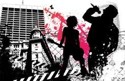Groupe de rock urbain Images libres de droits