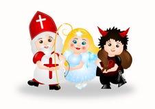 Groupe de Saint-Nicolas illustration stock