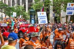 Groupe de San Francisco Pride Parade ACLU Photo stock