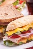 Groupe de sandwichs savoureux Image libre de droits