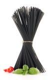 Groupe de spaghetti noirs images libres de droits