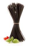 Groupe de spaghetti noirs photo libre de droits