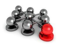 Groupe de sphères de concept de travail d'équipe de direction illustration stock