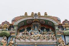 Groupe de statue de harem de Vishnu au temple de Shirangam Photo libre de droits