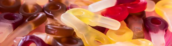 Groupe de sucreries gommeuses photographie stock libre de droits