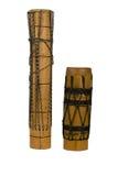 Groupe de tambours africains exotiques en bois Photo stock