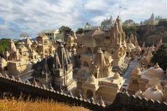 Groupe de temples chez Palitana en Inde photo libre de droits