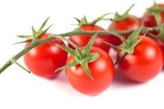 Groupe de tomates fraîches savoureuses rouges sur le fond blanc Photo stock