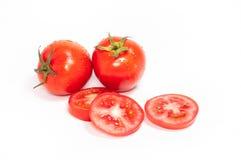 Groupe de tranches de tomates rouges Photo stock