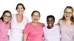 Groupe de travail d'équipe de sourire d'unité du féminisme de femmes Photographie stock