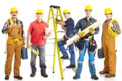 Groupe de travailleurs industriels. Photo stock