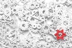 Groupe de triangle et d'?toile, diff?renciation du march? ou exceptionnel, pour la texture de conception et le fond rendu 3d illustration stock