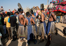 Groupe de tribus indigènes du continent africain Image libre de droits