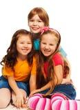 Trois petits enfants heureux Photo libre de droits
