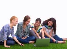 Groupe de trois filles d'adolescent Photo libre de droits