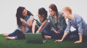 Groupe de trois filles d'adolescent Images libres de droits