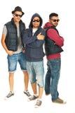 Groupe de trois garçons de frappeurs Images libres de droits
