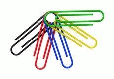 Groupe de trombones colorés multi illustration libre de droits