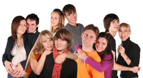 groupe de visages de couples Photos libres de droits