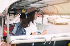 Groupe de voyage de touristes à Bangkok, Thaïlande Photo stock
