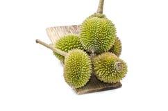 Groupe de vue supérieure de durians Images stock