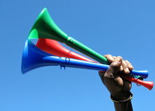 Groupe de vuvuzelas Image stock
