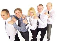 Groupe des affaires de sourire réussies Images stock