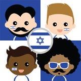 Groupe des défenseurs de l'Israël heureux illustration de vecteur